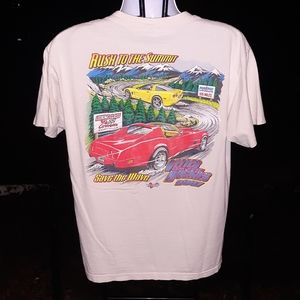 Vintage Corvette Rush to the Summit T shirt sz LG